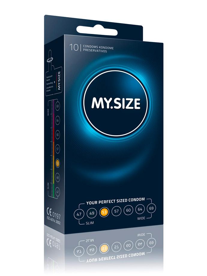 10 Stück MY.SIZE Kondome - Größe 53
