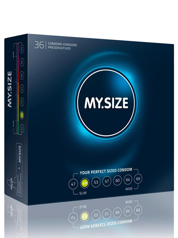 36 Stück MY.SIZE Kondome - Größe 49