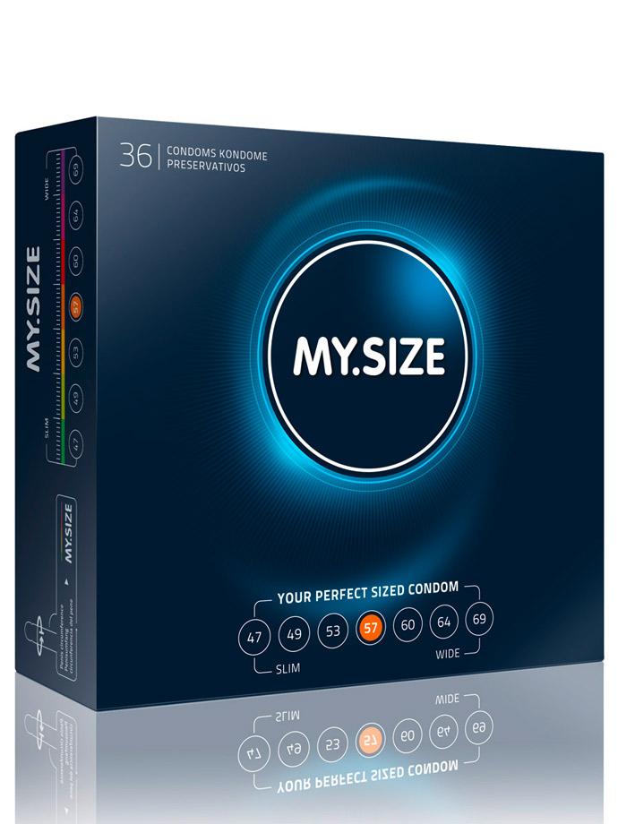 36 Stück MY.SIZE Kondome - Größe 57