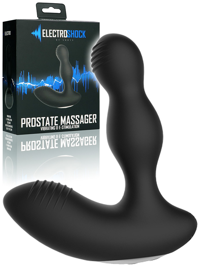 Electroshock - E-Stim Vibrating Prostate Massager - Schwarz