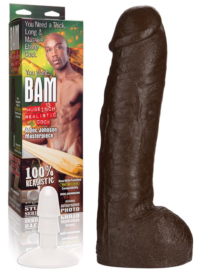 Doc johnson bam black realistic vac