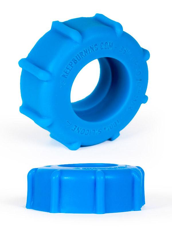 Burning Wheels 100% Silikon Cockring CK08 Blau