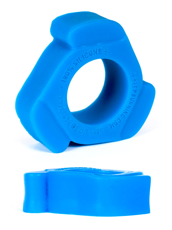 Burning Wheels 100% Silikon Cockring CK11 Blau