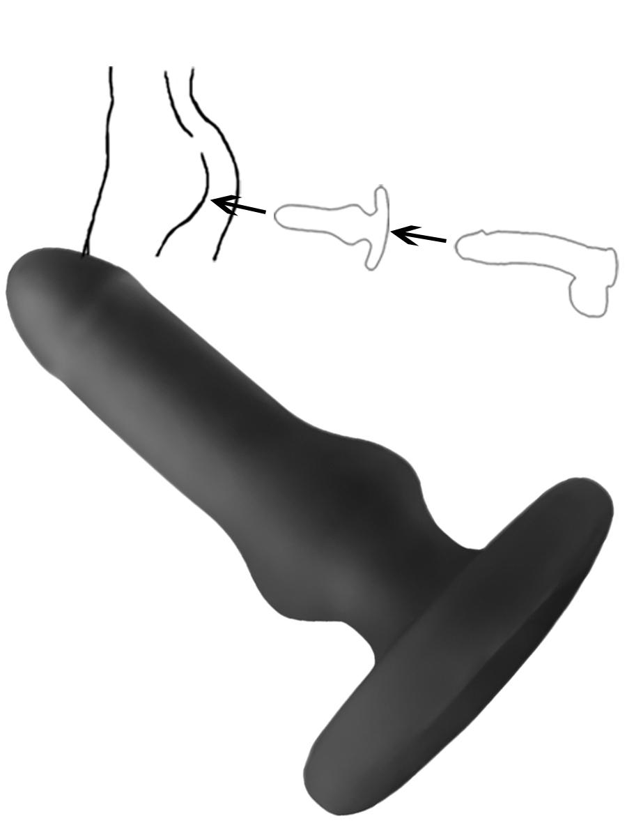 Hump Gear - Penetrierbarer Analplug - black
