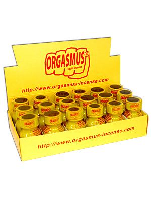 BOX ORGASMUS - 18 x ORGASMUS LIQUID INCENSE