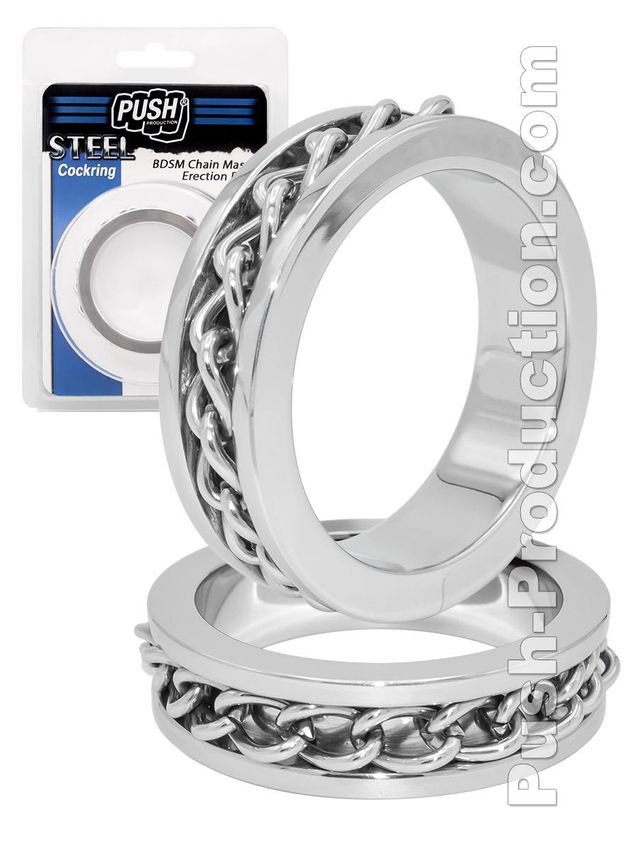 Push Steel - BDSM Chain Master Erection Ring