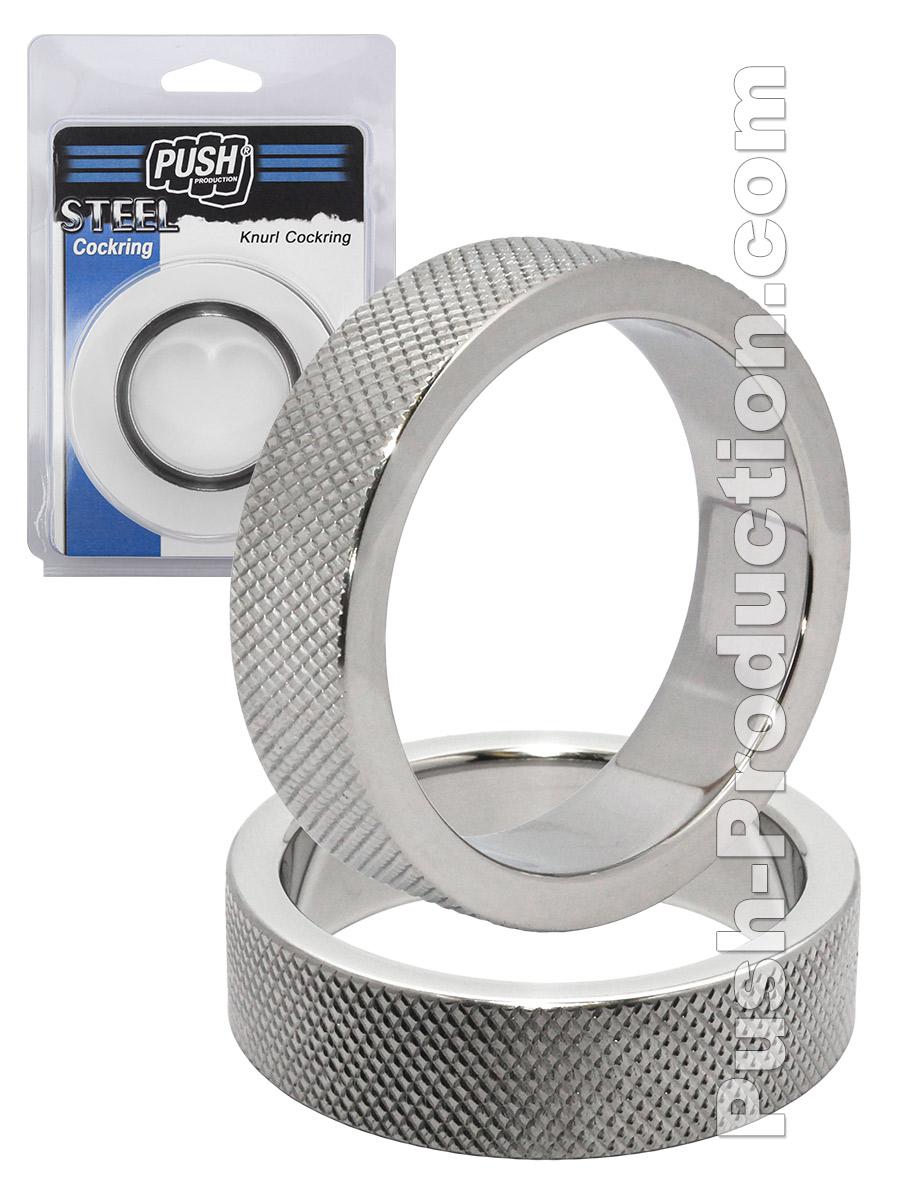 Push Steel - Knurl Cockring