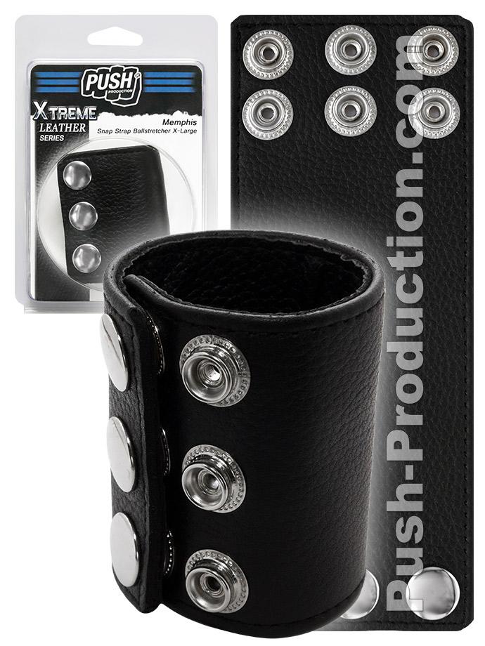 Push Xtreme Leather - Memphis Snap Strap Ballstretcher X-Large