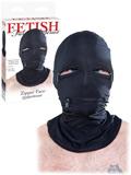 Fetish Fantasy - Zipper Face Hood Black